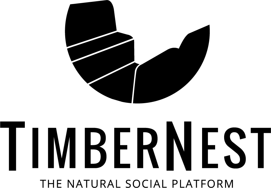The new logo which included a shape resembling the timbernest furniture.