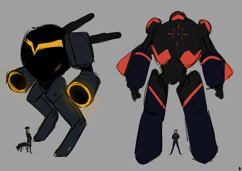 Mecha AU designs.