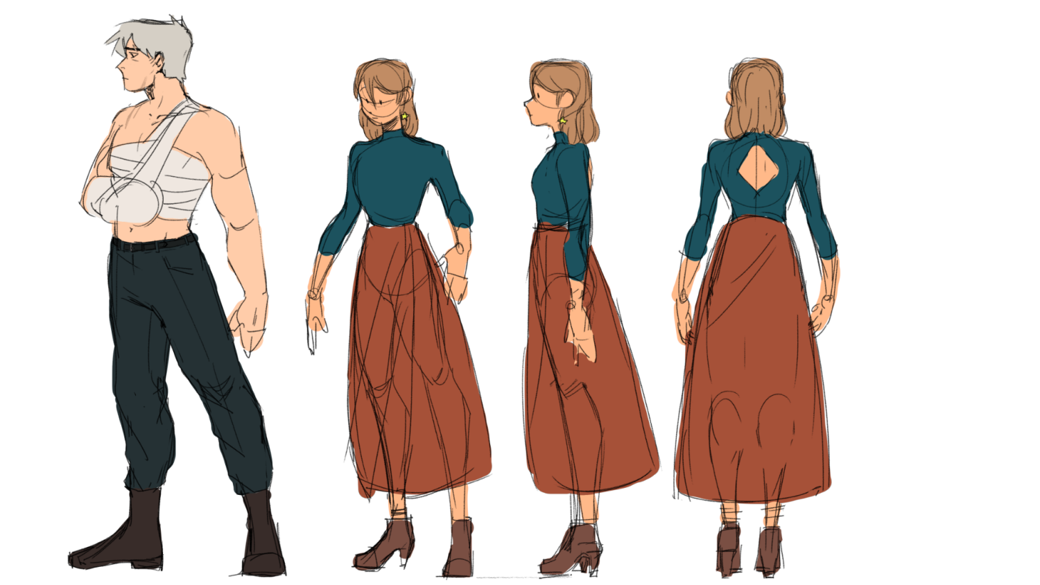 Characters and character turnaround
